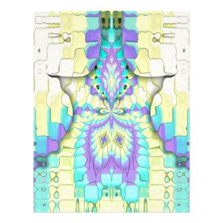 Vibrant Festive Neon Pastel Abstract  Pattern Letterhead