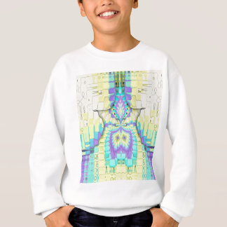 Vibrant Festive Neon Pastel Abstract  Pattern Sweatshirt