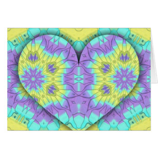 Vibrant Festive Pastel 3d Heart shaped. Card