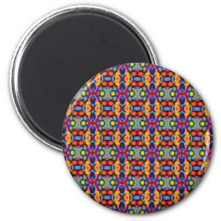 Vibrant Festive Tiny Circles of Color 2 Inch Round Magnet