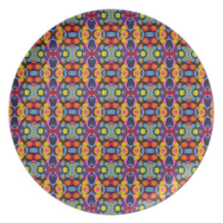 Vibrant Festive Tiny Circles of Color Dinner Plate