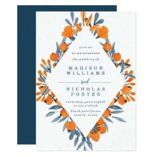 Vibrant Flora   Wedding Invitation