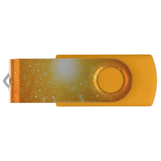 Vibrant floral abstract. swivel USB 3.0 flash drive