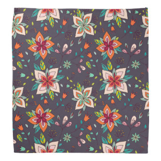 Vibrant Floral and Bird Patterns Bandannas
