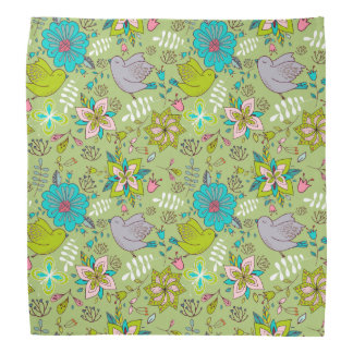 Vibrant Floral and Bird Patterns Do-rag