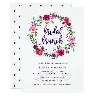 Vibrant Floral   Bridal Brunch Invitation