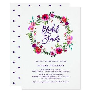 Vibrant Floral   Bridal Shower Invitation