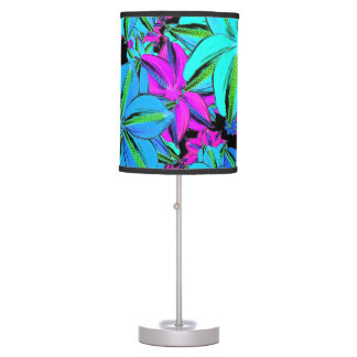 Vibrant Floral Collage Desk Lamps
