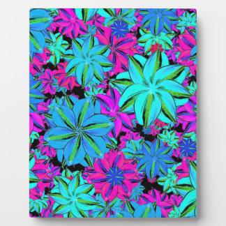 Vibrant Floral Collage Plaque