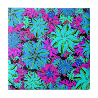 Vibrant Floral Collage Tile