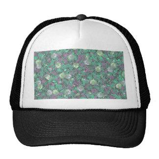 Vibrant Floral Mosaic Trendy Colorful Pattern Art Trucker Hats