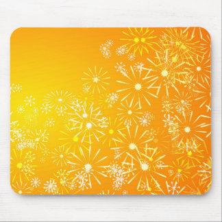 Vibrant floral. mouse pad