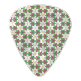 Vibrant Floral Pattern Pearl Celluloid Guitar Pick