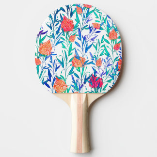 Vibrant Floral Ping Pong Paddle