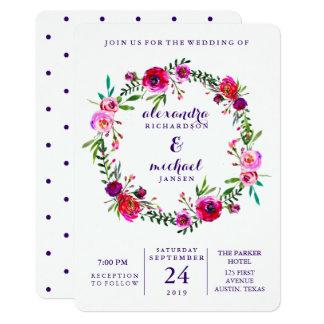 Vibrant Floral | Watercolor Wedding Invitation