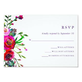 Vibrant Floral | Watercolor Wedding RSVP Response Card