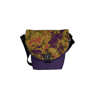 Vibrant flower camouflage pattern courier bags