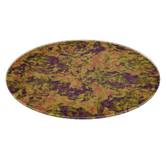 Vibrant flower camouflage pattern cutting board
