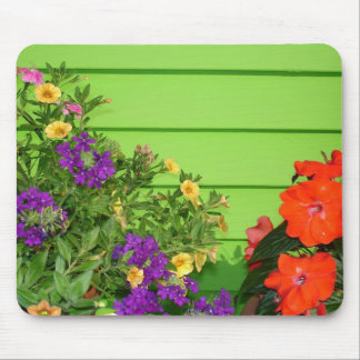 Vibrant Flowers Mouse Pad