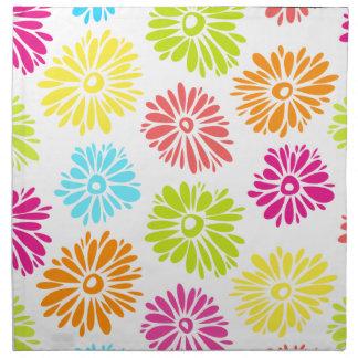 Vibrant Flowers Napkin