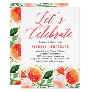 Vibrant Garden Bridal Shower Invitation