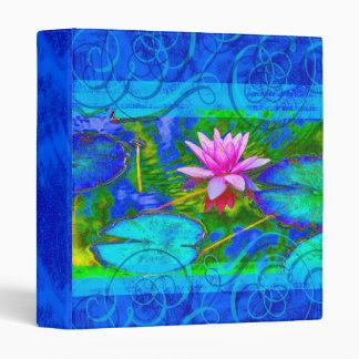 Vibrant Garden Waterlily Lotus Yoga Notebook Vinyl Binder