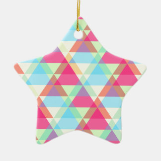 Vibrant Geometric - Arrow Triangle Pattern Ceramic Star Ornament