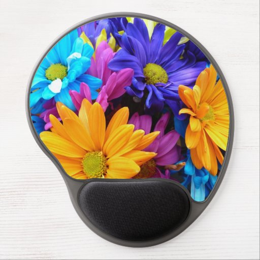 Vibrant Gerbera Daisy Bouquet Gel Mousepad