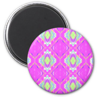 Vibrant Girly Hot Neon Pastel Pink 2 Inch Round Magnet