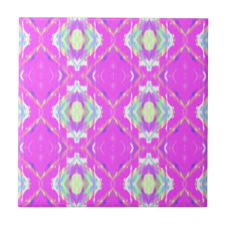 Vibrant Girly Hot Neon Pastel Pink Ceramic Tiles