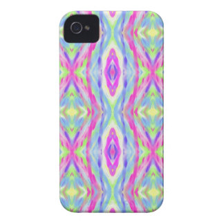 Vibrant Girly Spring Pastel Tribal Pattern iPhone 4 Covers