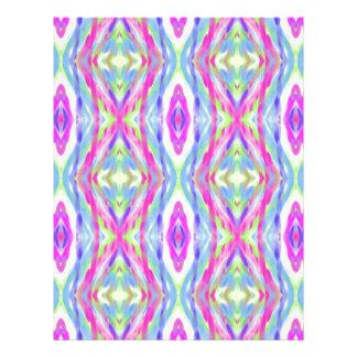 Vibrant Girly Spring Pastel Tribal Pattern Letterhead