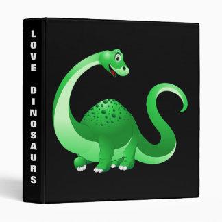 Vibrant Green Cartoon Dinosaur Binders