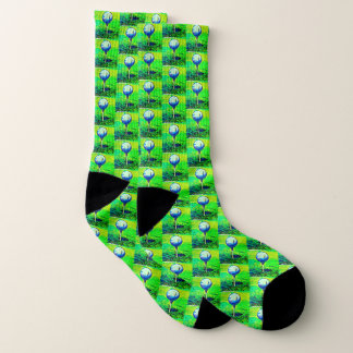 Vibrant Green Golf Pro Socks 1