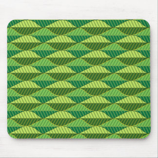Vibrant Green Leaves Pattern Mouse Pad