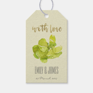 VIBRANT GREEN WATERCOLOR SUCCULENT PERSONALIZED GIFT TAGS
