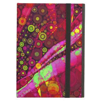 Vibrant Hot Pink Concentric Circle Mosaic Case For iPad Air