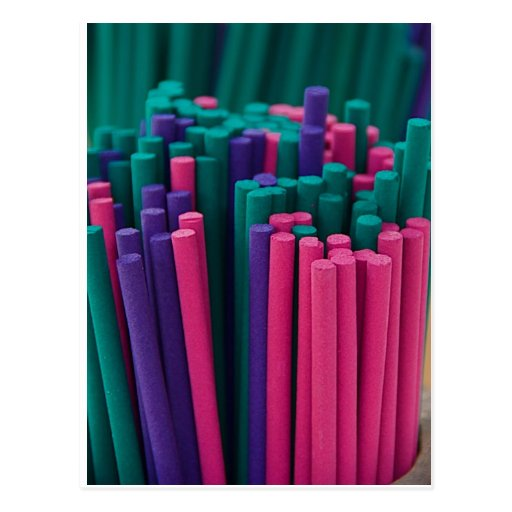 Vibrant Incense Sticks Post Card