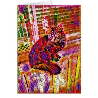 Vibrant Kitty Card