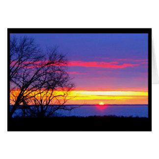 Vibrant Lake Winnebago Sunset Thinking Of You Card