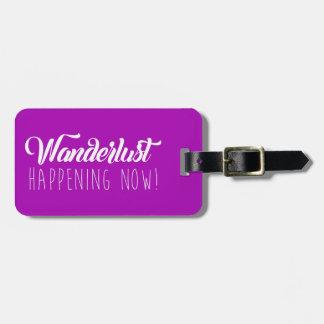 Vibrant Life Luggage Tag Wanderlust - Purple/White