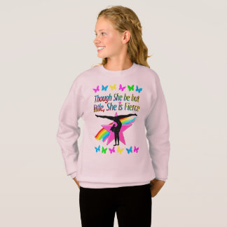VIBRANT LITTLE BUT FIERCE GYMNASTICS DESIGN SWEATSHIRT