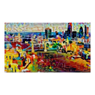 Vibrant London in colour Poster