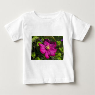 Vibrant Magenta Pink Clematis Blossom Baby T-Shirt