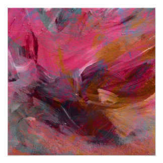 "Vibrant Magenta ""Treasure"" Mixed Media Overlay Poster"