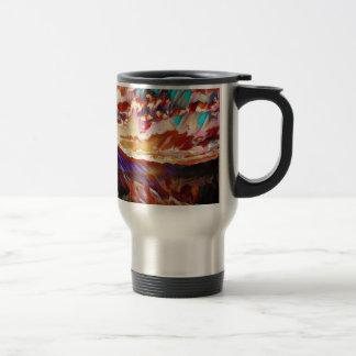 Vibrant Majestic Mountain Sunset Travel Mug