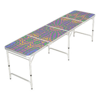 Vibrant Mandala 2 Beer Pong Table