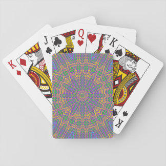 Vibrant Mandala 2 Playing Cards