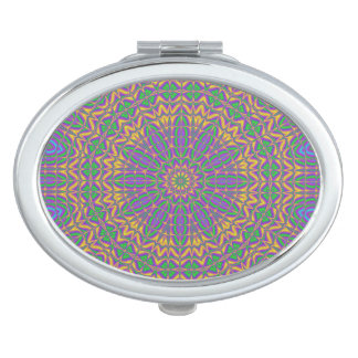 Vibrant Mandala 2 Travel Mirror