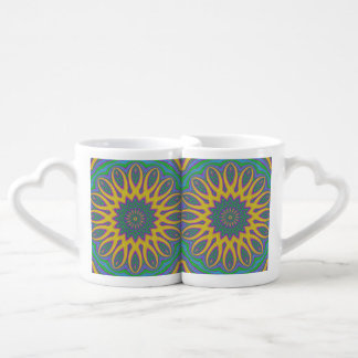 Vibrant Mandala Coffee Mug Set